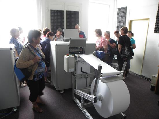 Na prehliadke Slovenskej knižnice pre nevidiacich Mateja Hrebendu v Levoči